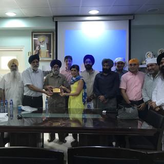 Briefing at Sikh Gurdwara (25/9/16)