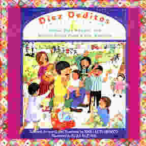 CD cover art. Music by Jose Orozco. Diez Deditos Children singing and dancing