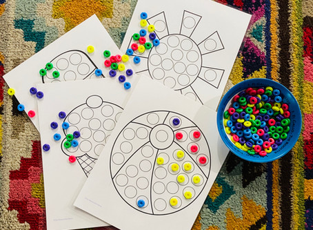 Bilingual Thematic Activities: Seasons Dot Art