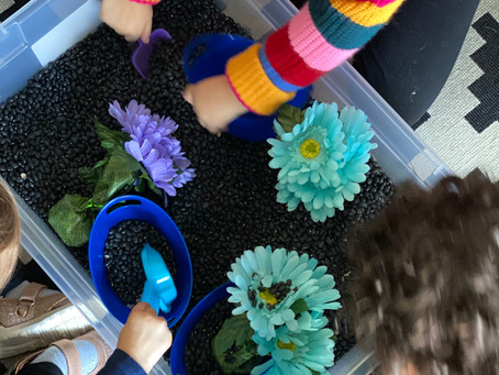 Bilingual Thematic Activities: Seasons Sensory Bin