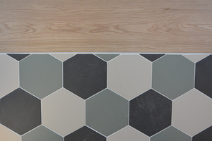 Studio Vert ristrutturazione appartamento - piastrelle esagonali