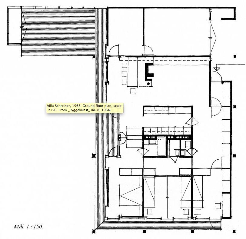 villa Schreiner planimetria