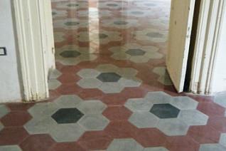 riferimento pavimento esagonale tradizionale