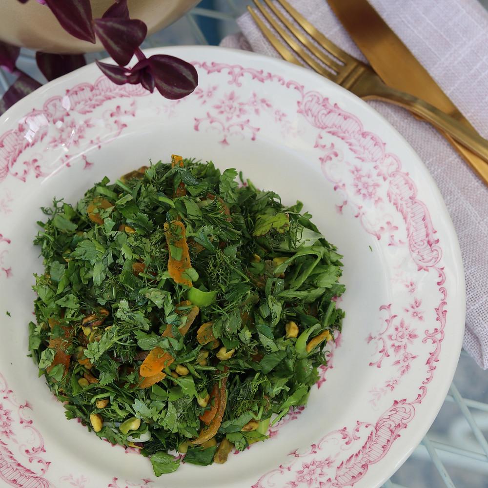 סלט ירוק כמו במסעדת התרנגול הכחול