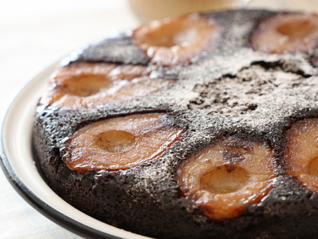 עוגת שוקולד אגסים