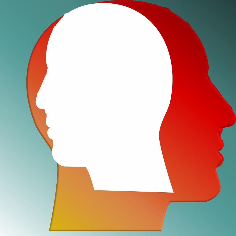 איור של ראש מפוצל