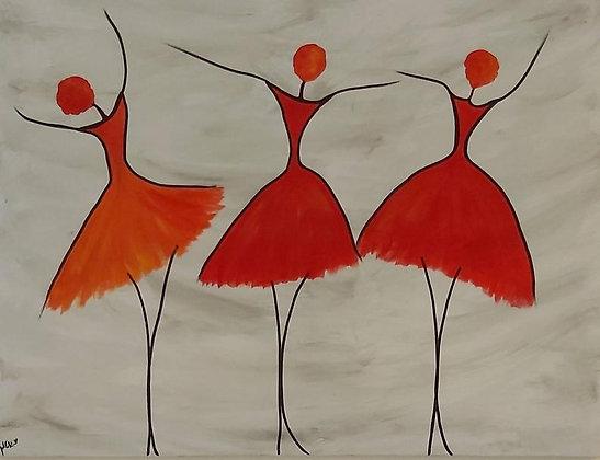 רקדניות באדום