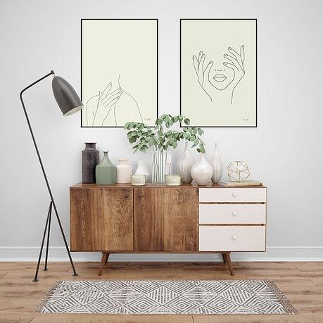 שימוש בתמונות אמנות לחיפוי הקיר בעסק