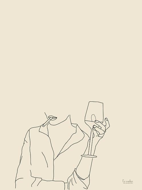 יצירת אומנות בקווי מתאר של אישה להוספת שיקיות עכשווית לחלל שלכם