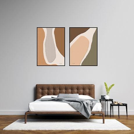 אמנות קיר בחדר השינה
