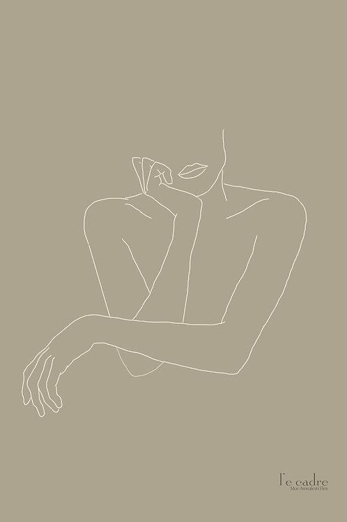אומנות עכשווית, יצירה בקווי מתאר עדינים של אישה
