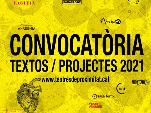 Convocatòria conjunta de textos i projectes inèdits #OnElTeatreBatega