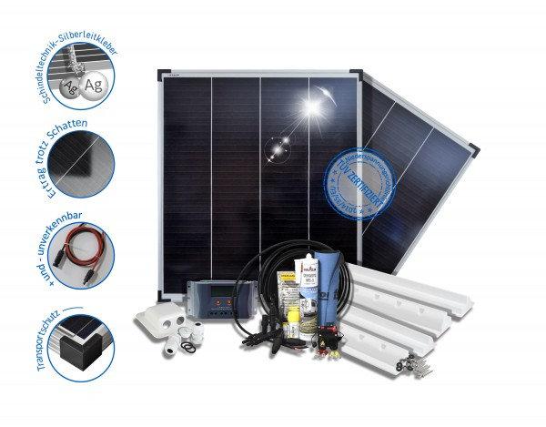 Solaranlage Wohnmobil Carvan Reisemobile 200W Monokristalline 12V Basic