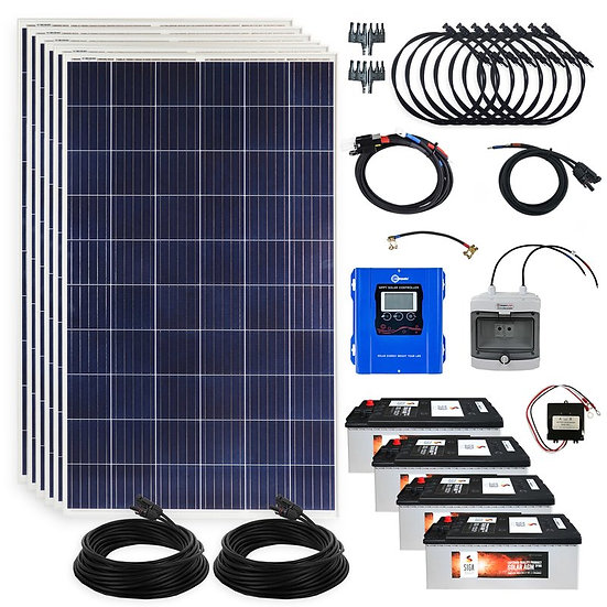 Notstrom 1710 Watt Solaranlage MPPT Laderegler Inselanlage Solar Photovoltaik