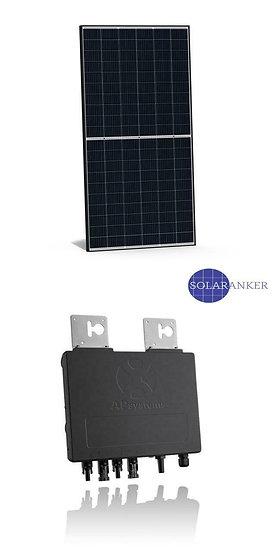 Balkonanlage Plugin Play Mini-PV 340 Watt Solar Farbrik Mono S2 Halfcut