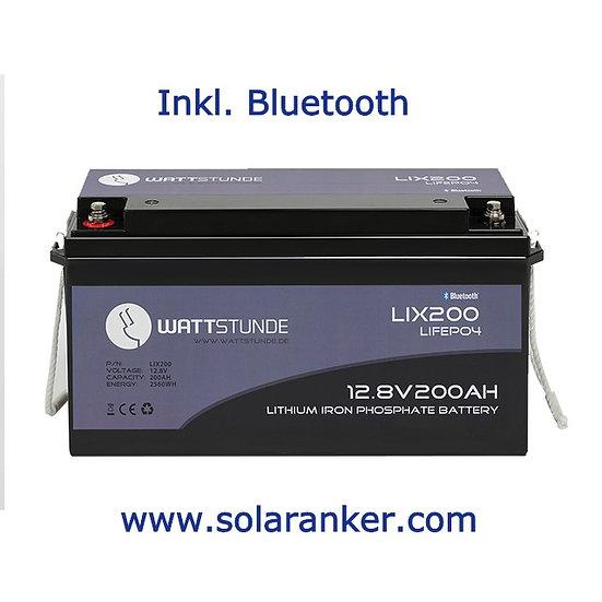 Neue WATTSTUNDE® Lithium 200Ah LiFePO4 Batterie LIX200