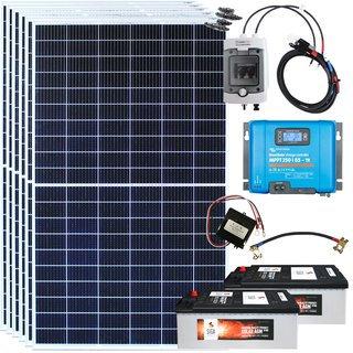 Inselanlage 2040 Watt Mono 48 Volt/230 Volt Bausatz Speicher