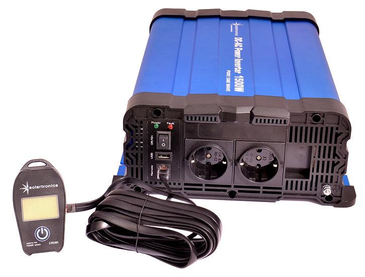 Spannungswandler FS1500DR 12V 1500/3000 Watt reiner Sinus BLAU kein Display mit