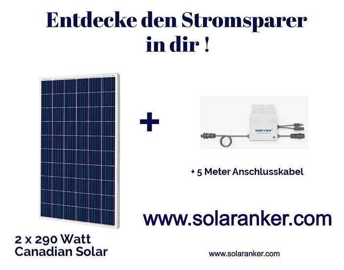 Neue Balkonanlage Solar Plugin Play 580 Watt Typ Pfannendach