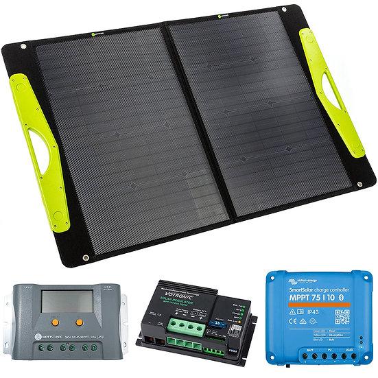 WATTSTUNDE® 100W SolarBuddy Solartasche WS100SB direkt mit USB Anschluss TOP