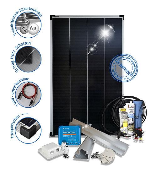 Camping150W Wohnmobil Solaranlage Premium Monokristallin 12V mit Mppt Laderegler