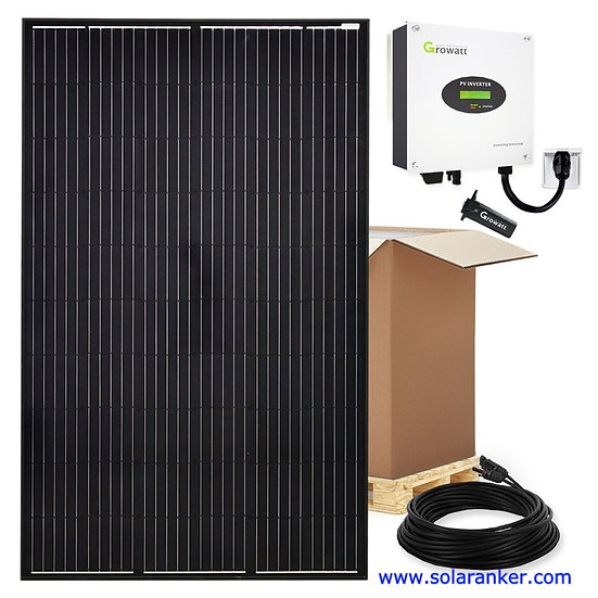 Schwarze 3000 W Solaranlage Plug & Play WiFi Einspeisedose