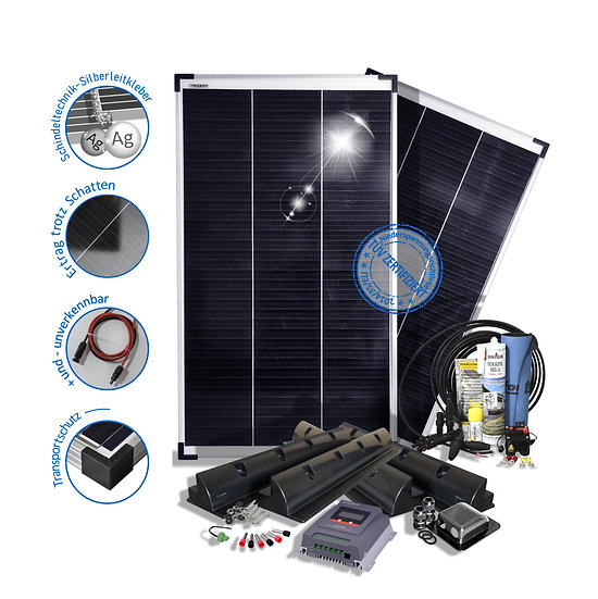 200W 12V Wohnmobile mit Mppt Laderegler Halterungen preVent Solaranlage