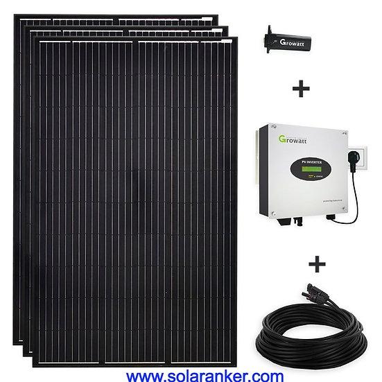 Schwarze 900 Watt Solaranlage PV Plug & Play Mini-Solaranlage Steckdose