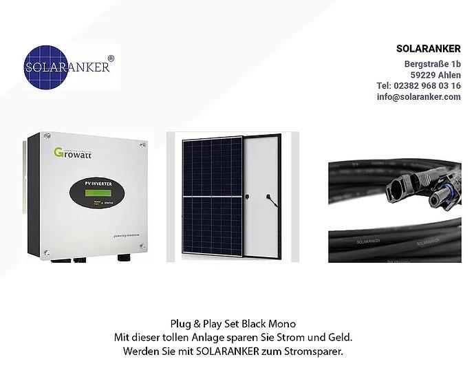 1020 Watt Einspeiseanlage Solaranlage mit Solar Fabrik Solarmodul Mono 340 Watt
