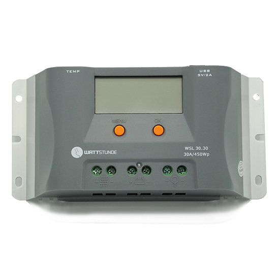 WATTSTUNDE® WSL30.30 Solar Laderegler 30A - 12/24V