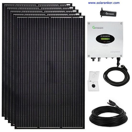 Schwarze 1800 Watt Solaranlage PVMini Solaranlage