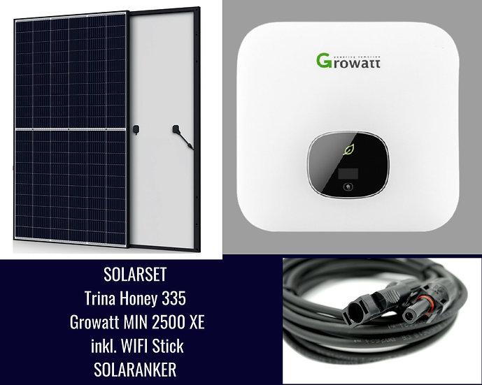 2345 Watt Solaranlage mit Trina Honey 335, Growatt.Eigenverbrauch