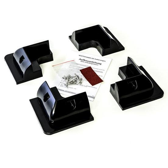 Solarmodul Halteecken für Wohnmobil HXE/S ABS Kunststoff schwarz