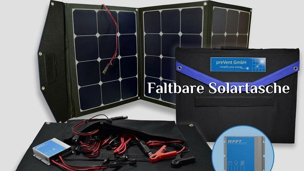 Faltbares Solarmodul Wohnmobil - 120W Solarmodul Solartasche mit MPPT Laderegler