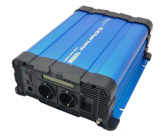 Spannungswandler FS1500D 12V 1500/3000 Watt reiner Sinus BLAU m. Display