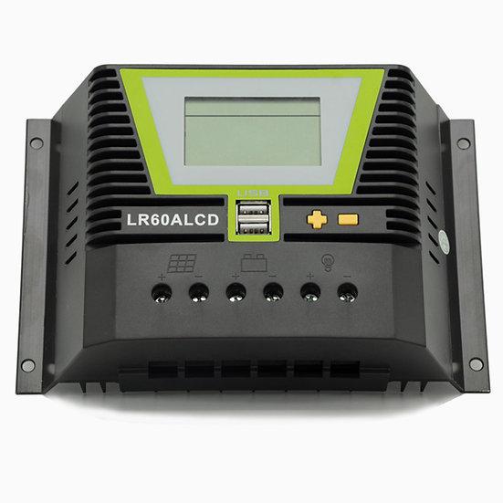 Solar Laderegler 60A LR60ALCD mit Dual USB-Anschluss und LCD-Anzeige für 12V / 2