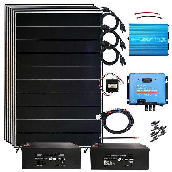 Notstromanlage 2340 Watt Solaranlage MPPT Laderegler Inselanlage Photovoltaik