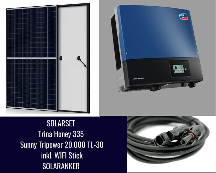 16750 Watt Solaranlage Photovoltaik mit SMA Tripower 20.000 TL 30