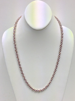 Simple Spiral Necklace purple and white