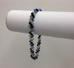 Crystal Delight Bracelet blk& grey