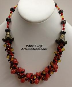 Kumi Ne amber and red Pilar Burg WM W