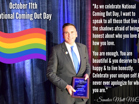 Senator McCoy's Remarks onNational Coming Out Day