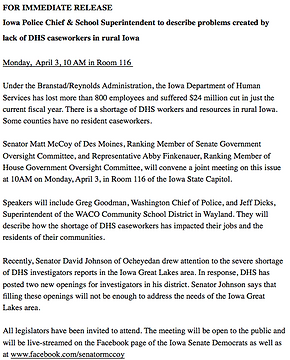 DHS, Updates from Legislative Session | Supervisor Matt McCoy | Polk