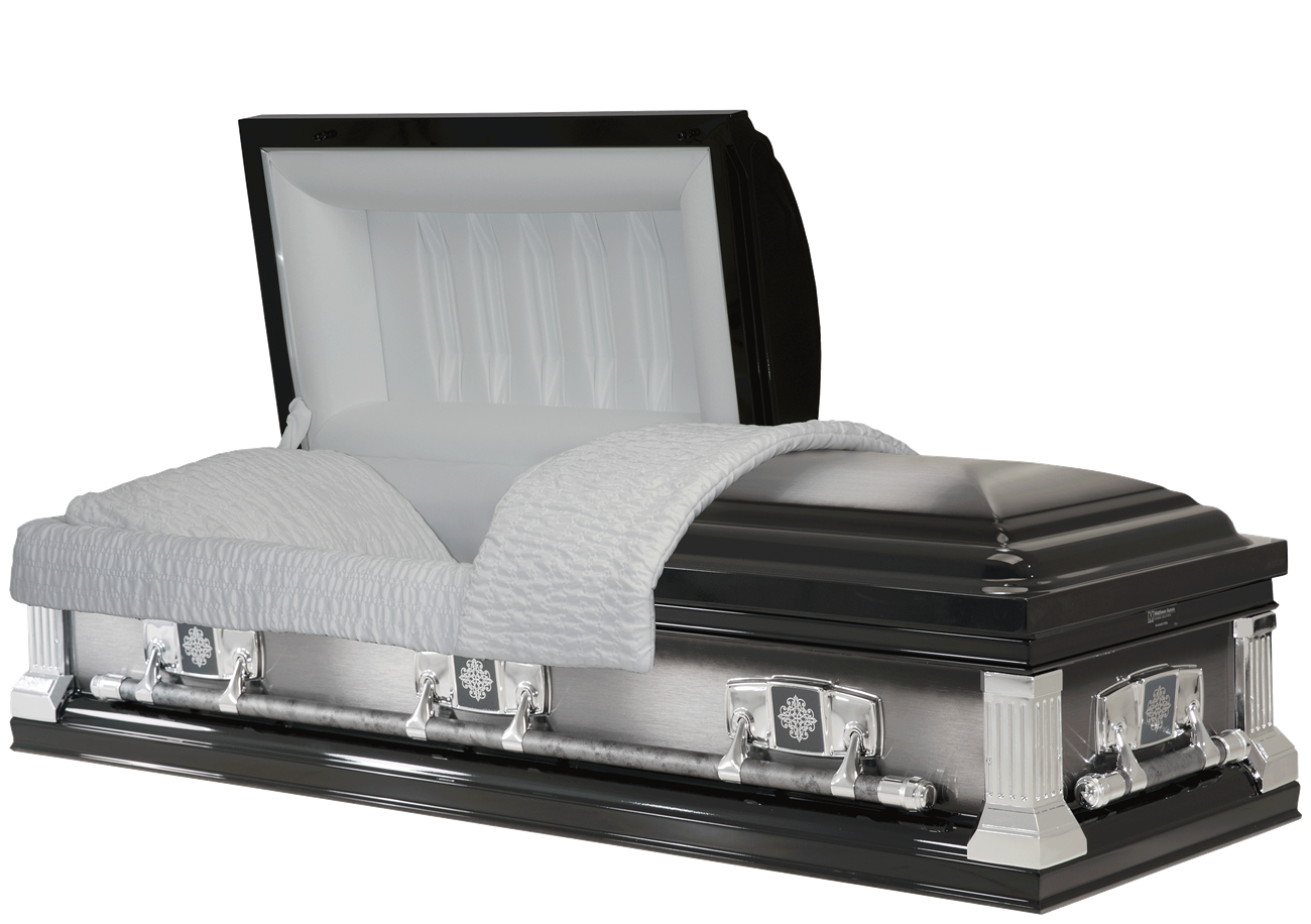 1725 Ebony Brushed Casket