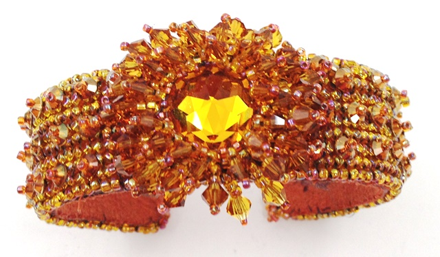 Starburst Orange Bracelet - Kris Larsen