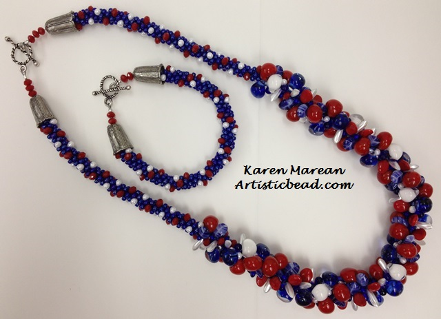 Kumi ensemble patriotic Karen Marean WM W