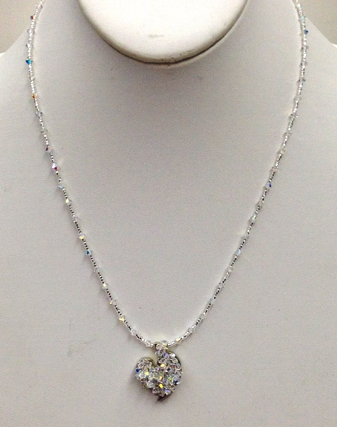 Sparkling Heart Necklace - Linda Hamm