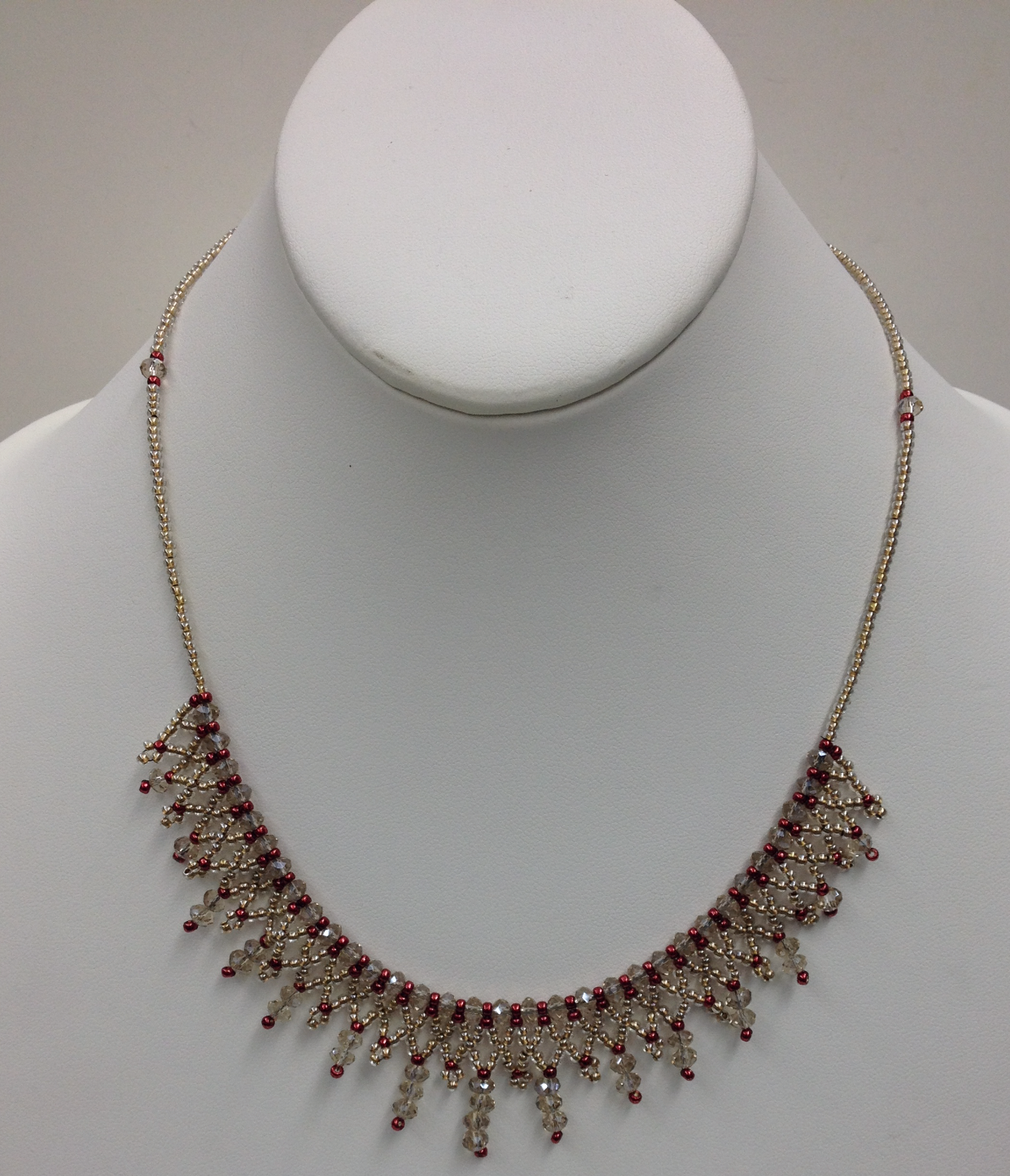 Crystal Lace Necklace in Mocha by Paula Binner