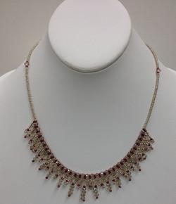 Crystal Lace Necklace in Mocha by Paula Binner