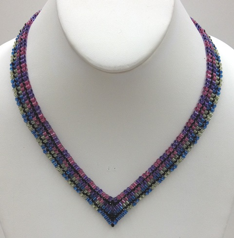 Delica Houndstooth Necklace